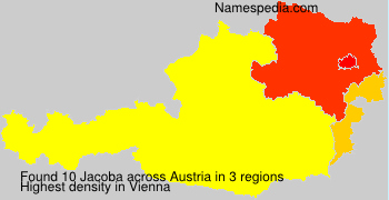 Surname Jacoba in Austria