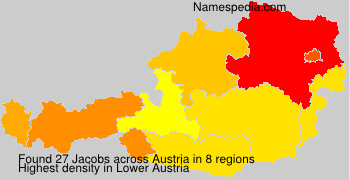 Surname Jacobs in Austria