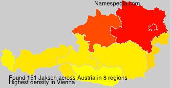 Familiennamen Jaksch - Austria