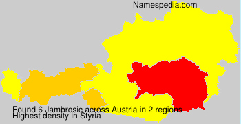 Surname Jambrosic in Austria