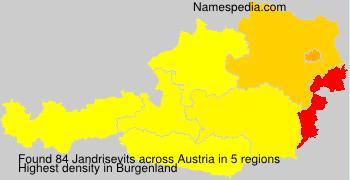 Surname Jandrisevits in Austria