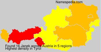 Familiennamen Janek - Austria