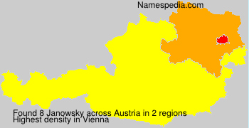 Surname Janowsky in Austria
