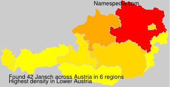 Familiennamen Jansch - Austria