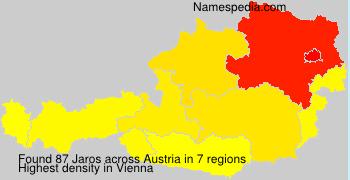 Surname Jaros in Austria