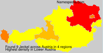 Surname Jeckel in Austria