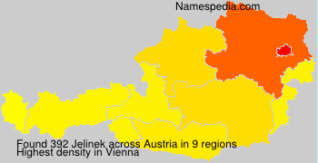 Surname Jelinek in Austria