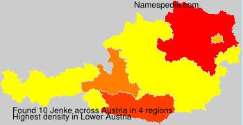 Surname Jenke in Austria