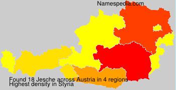 Surname Jesche in Austria