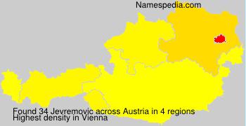 Surname Jevremovic in Austria