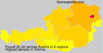 Surname Jin in Austria