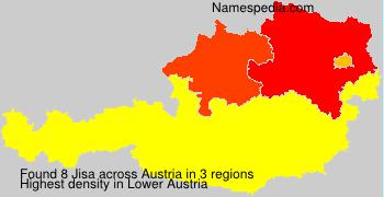 Familiennamen Jisa - Austria