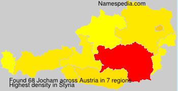 Surname Jocham in Austria