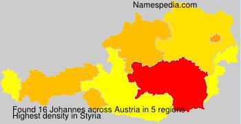 Surname Johannes in Austria