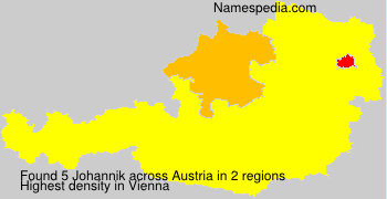 Surname Johannik in Austria