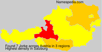Familiennamen Jorke - Austria