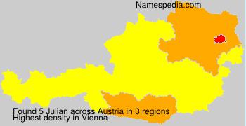 Familiennamen Julian - Austria