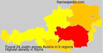 Surname Justin in Austria