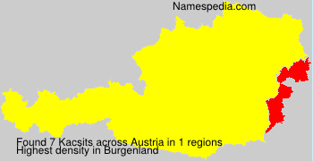 Surname Kacsits in Austria