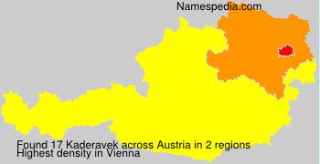 Surname Kaderavek in Austria