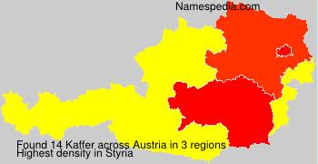 Familiennamen Kaffer - Austria