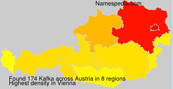 Surname Kafka in Austria