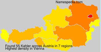 Surname Kahler in Austria