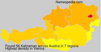 Surname Kahraman in Austria
