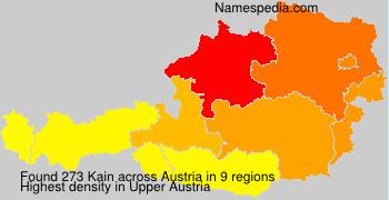 Surname Kain in Austria