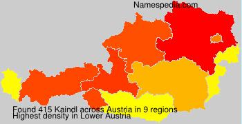 Surname Kaindl in Austria