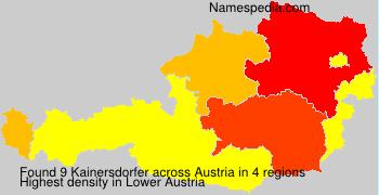 Familiennamen Kainersdorfer - Austria