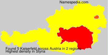 Surname Kaiserfeld in Austria