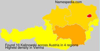 Surname Kalinowski in Austria
