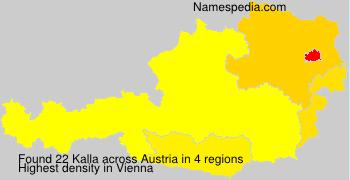 Familiennamen Kalla - Austria