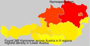 Surname Kammerer in Austria