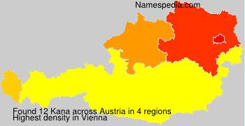 Surname Kana in Austria