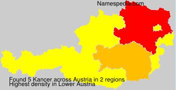 Familiennamen Kancer - Austria
