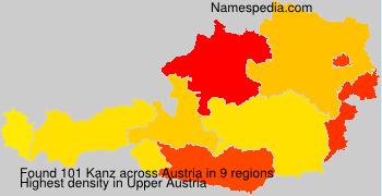 Surname Kanz in Austria