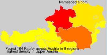 Surname Kapfer in Austria