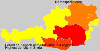 Surname Kapsch in Austria