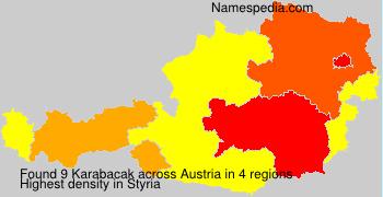 Surname Karabacak in Austria