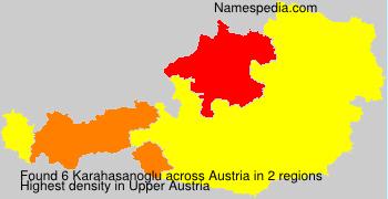 Surname Karahasanoglu in Austria