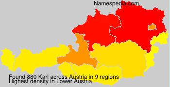 Surname Karl in Austria
