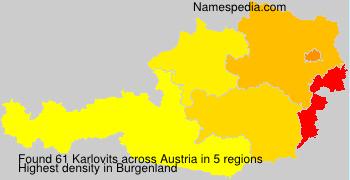 Surname Karlovits in Austria