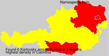 Surname Karlovsky in Austria