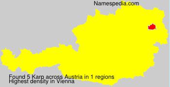 Surname Karp in Austria
