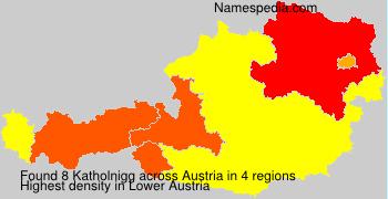 Familiennamen Katholnigg - Austria