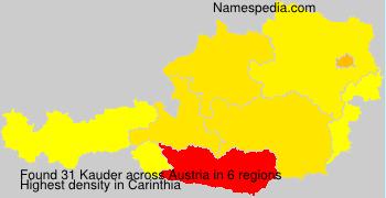 Surname Kauder in Austria
