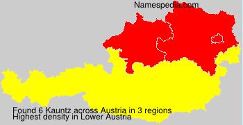 Surname Kauntz in Austria