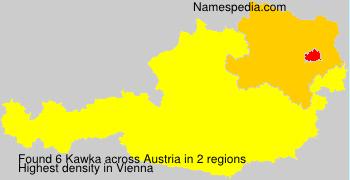 Familiennamen Kawka - Austria